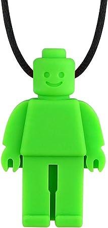 FATTERYU Juguete de Silicona masticable sensorial Mordedor de Silicona Robot Chew Collar para ni/ños Beb/é