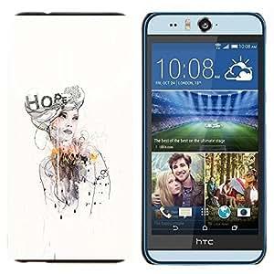 EJOOY---Cubierta de la caja de protección para la piel dura ** HTC Desire Eye M910x ** --Diseño Vestido moda de la acuarela