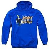 Johnny Bravo Cartoon Series Cartoon Network TV Show Logo Adult Pull-Over Hoodie