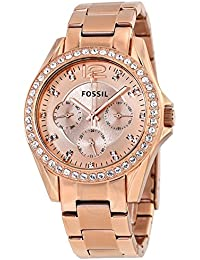 Fossil Women's ES2811 Riley Rose Gold-Tone Stainless...