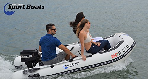 Inflatable Sport Boats Shark 9.8' - Model 300 - Aluminum Floor Dinghy with Seat Bag by Inflatable Sport Boats (Image #1)