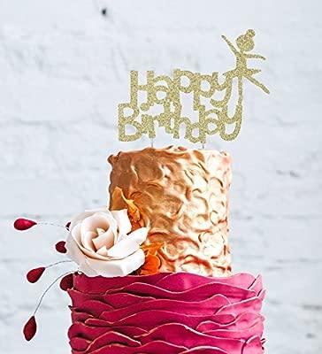LissieLou Feliz cumpleaños Bailarina Decoración para Tarta ...
