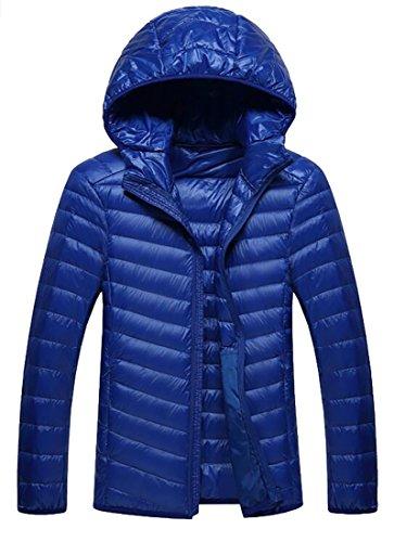[해외]야유 Mens 플러스 사이즈 가벼운 후드 티드 업 퍼퍼 다운 자켓/Yayu Mens Plus Size Lightweight Hooded Zip-Up Puffer Down Jackets