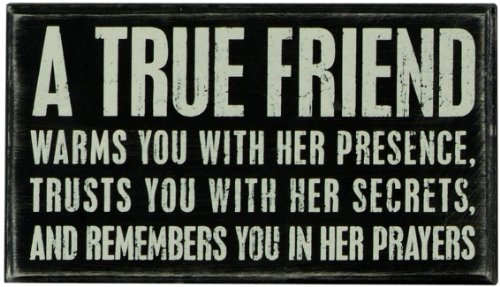 Primitives by Kathy Classic Box Sign, 8 x 4.5-Inches, A A True Friend