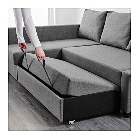 Amazon.com: Ikea Sleeper sectional, 3-seat, Skiftebo dark ...