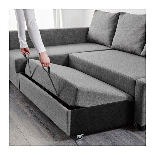 Amazon.com: Ikea Sleeper sectional, 3-seat, Skiftebo dark ...