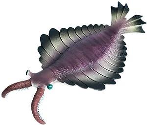 Hiawbon Cambrian Simulated Sea Life Animals Figurines Realistic Sea Creature Model Plastic Ocean Creature Cognitive Figure for Collection Science Educational Props (Anomalocaris)