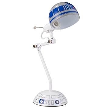 Disney 12213 Star Wars Desk Lamp, White/Blue, 17u0026quot;