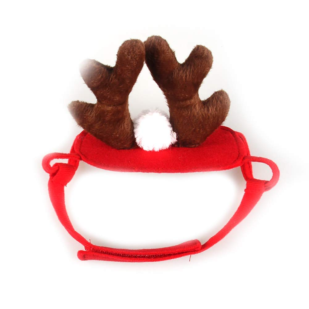 Yevison Fashion Pet Dog Cat Antlers Hats Doggy Funny Hat Puppy Caps Dogs Cats Hair Band Decoration Accessories Pet Christmas Decorations Durable and Useful