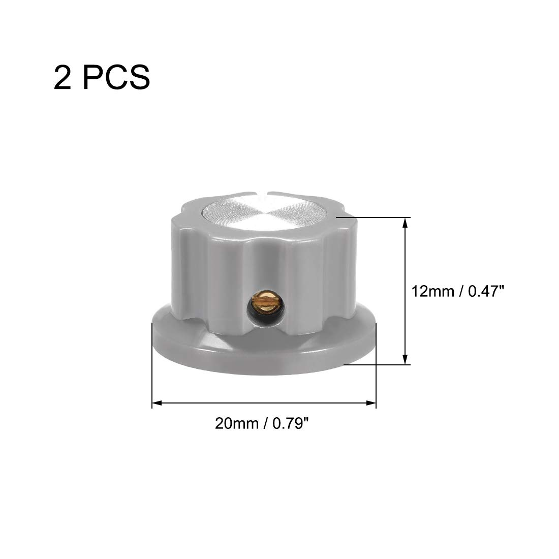 uxcell 2pcs 6.4mm Shaft Hole Potentiometer Volume Control Rotary Knobs Effect Pedal Knobs Purple
