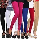 Sikhi Sewa Women's Cotton Leggings (Combo of 6) (leg635_Multi-Coloured _Free Size)