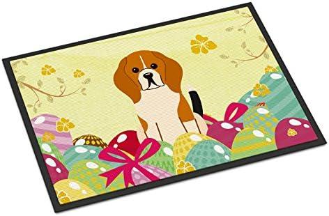 Caroline s Treasures BB6040MAT Easter Eggs Beagle Tricolor Indoor or Outdoor Mat 18×27, 18H X 27W, Multicolor