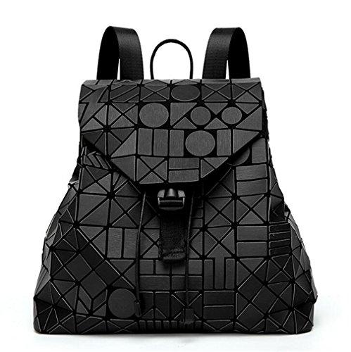 Logo Packback Pack colori famoso Geometrico Zaino donne Bag Kaoling per 12 Matte Pack Nero Grigio pnXqTBUvB