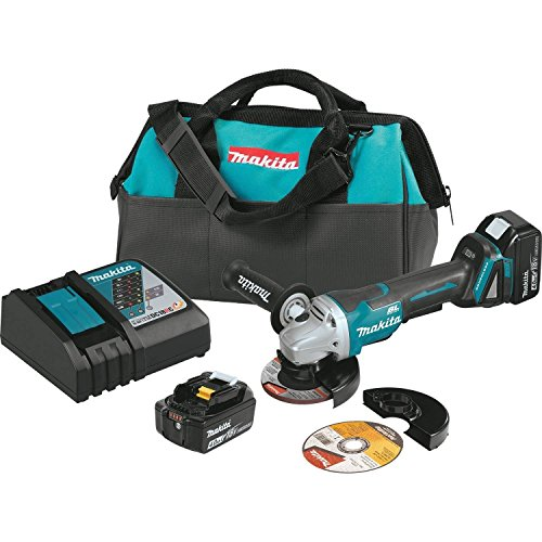 Makita Electric Brake - Makita XAG10M 18V LXT Lithium-Ion Brushless Cordless 4-1/2