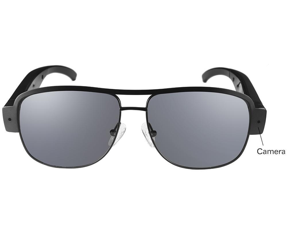 LLZJ Glasses Spy Camera High Definition 1080P Sports Eyewear Mini Hidden Video Ski Recorder Camcorder Outdoor Travel Digital Black Fashion