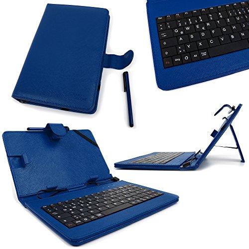 DURAGADGET Blue Faux Leather 7