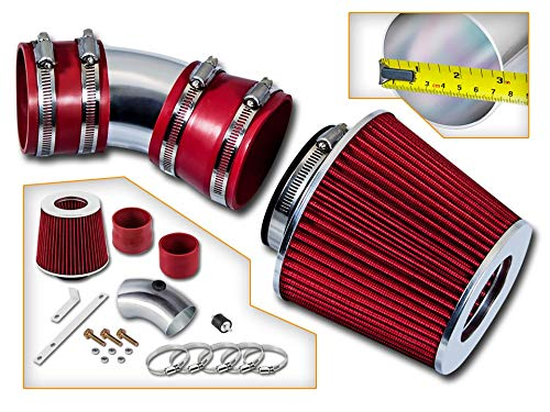 Rtunes Racing Short Ram Air Intake Kit + Filter Combo RED For 06-08 Impala 3.5L/3.9L V6 / 06-08 Monte Carlo 3.5L/3.9L V6