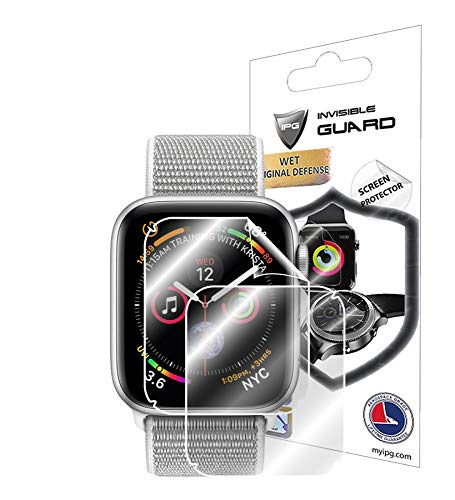 IPG for Apple Watch Series 4 (40 MM) Screen Protector (2X) Invisible Ultra HD Clear Film Anti Scratch Skin Guard - Smooth/Self-Healing/Bubble -Free