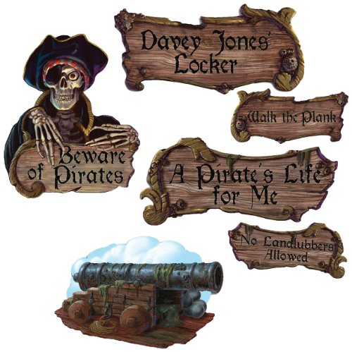 Pirate Cutouts   (4/Pkg) (Pirate Signs)