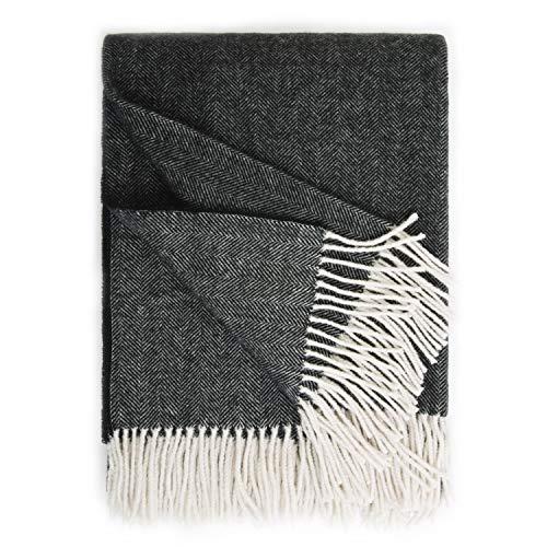 Bedsure Wool Blanket Ash Black product image