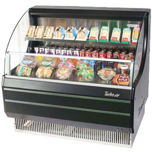 Turbo Tom-40LB Open Front Display Merchandiser, Refrigerated, Low-Profile, Horiz