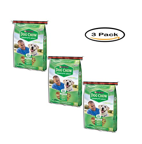PACK OF 3 – Purina Dog Chow Complete Adult Dog Food 18.5 lb. Bag