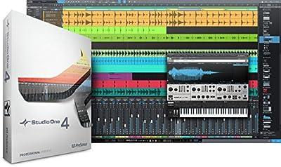 Presonus Studio One 4 Professional MIDI Recording DAW Full Software+Headphones