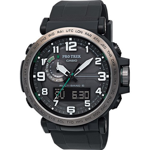 Casio Reloj Analógico-Digital para Hombre de Cuarzo con Correa en Resina PRW-6600Y-1ER: Amazon.es: Relojes