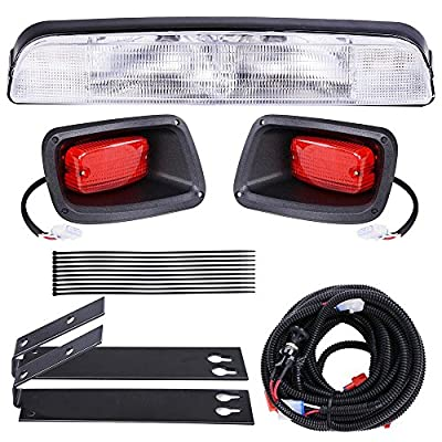 AW Golf Cart LED Light Kit ABS Plastic Compatible with EZGO TXT Golf Carts Outdoor Sport Light