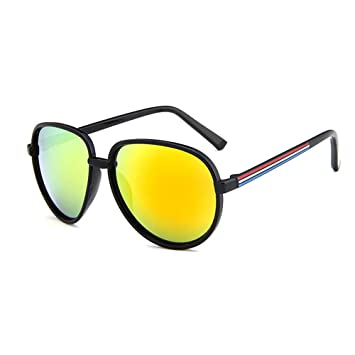 69f121cd11ad5 forepin® Gafas de sol Hombre y Mujer Estilo Aviador Piloto Gafas de vista  unisex adultos marco vasos teintés nuevo marco FRAME lente Style 08   Amazon.es  ...