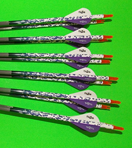 Gold Tip XT Hunter 5575/400 Carbon Arrows w/Blazer Vanes Rain Wraps - Arrows Black Hunter 5575