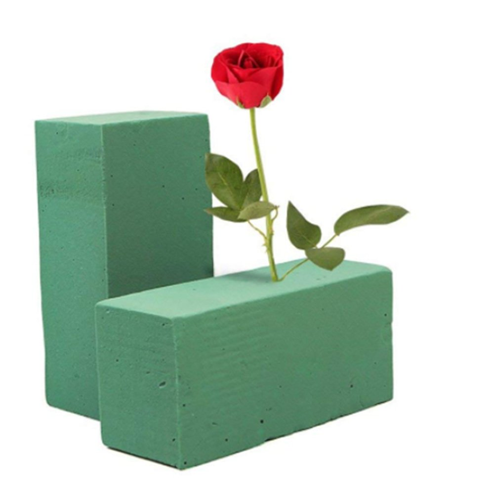 Floral Foam Blocks, 6 Pack Flower Brick Mud Florist Supplies Dry Form Flower Holder Oasis Water Absorption for Home Garden Decoration Wedding Decors Favors UHBGT