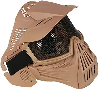 Airsoft-Maske Schutzmaske ideal f/ür Paintball // Halloween-Kost/üm Mesh-Maske von HaoYK Milit/ärschutzmaske Maske f/ür das ganze Gesicht