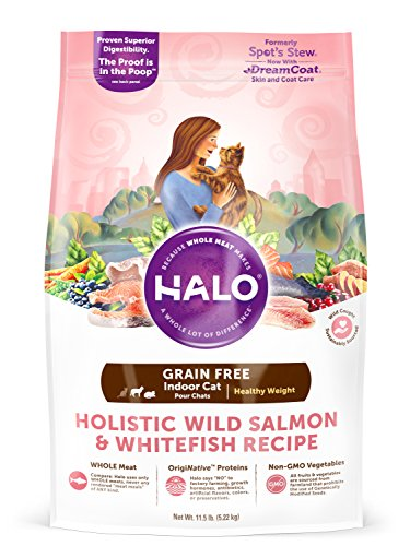 Halo Grain Free Natural Dry Cat Food, Indoor Healthy Weight