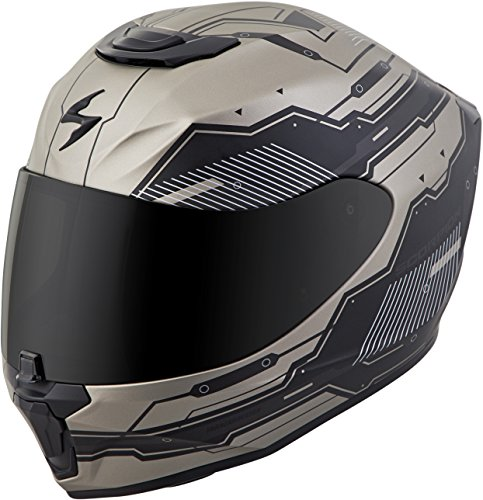 Scorpion EXO-R420 Techno Helmet Titanium (Black, Large)