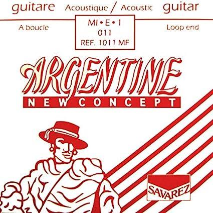 Savarez Cuerdas Para Guitarra Acustica Argentine Mi1-1011Mf Con ...