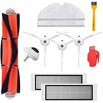 Parts Replacement for Xiaomi Mi Robot Xiaomi mijia roborock s50 s51 roborock 2 Vacuum Cleaner Accessories Pack of Main Brush,Hepa Filter,Side Brush,Cleaning ...