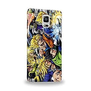 Case88 Premium Designs Dragon Ball Z GT AF Super Saiyan Goku Gohan Trunks Vegeta Carcasa/Funda dura para el Samsung Galaxy Note 4