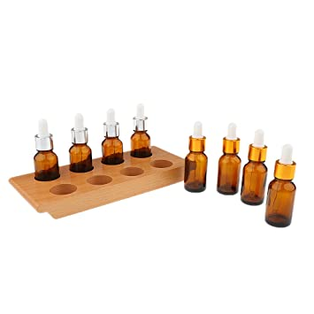 Sharplace Montessori Material Juego para Degustación Ejercicio con Bandeja 8 Botellas Gotero Sensorial Juguete Educativo para