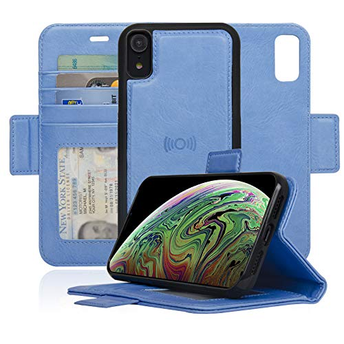 navor Detachable Magnetic Wallet Case Compatible for iPhone XR 6.1'' [Vajio Series] - Hot Blue [IPXRVJHB]
