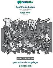 BABADADA black-and-white, Sesotho sa Leboa - Eesti keel, pukuntsu e bonagalago - piltsõnastik: North Sotho (Sepedi) - Estonian, visual dictionary