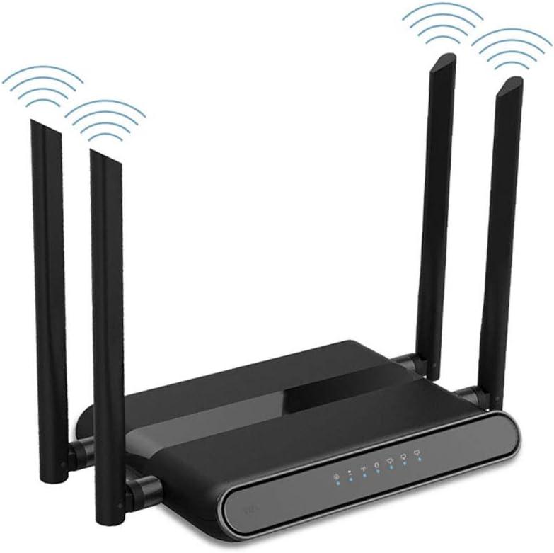 Aijin 4G móvil Router Wi-Fi, 300 Mbps Router inalámbrico de Alta Velocidad de la Tarjeta de Red 4G, Puede soportar la conexión de la línea telefónica para 32 usuarios