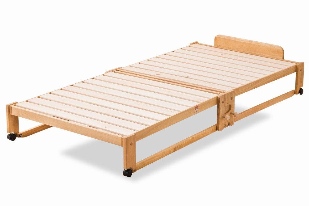 EMOOR 日本製 折りたためるヒノキすのこベッド