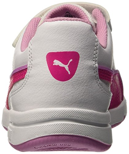 Puma V Stepfleex Fs Sl Ps Baskets Mode Blanc/Pink Glo 1,5