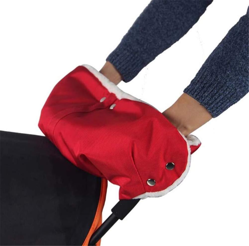 Milopon Kinderwagen Handwä rmer Muff Buggys Handschuhe mit Warm Flanell Handmuff fü r Kinderwagen Buggy Radanhä nger (Rot)