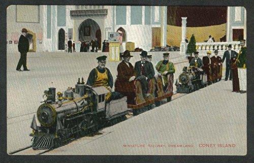Coney Island Dreamland (Miniature Railway Dreamland Coney Island Brooklyn NY postcard 1910s)