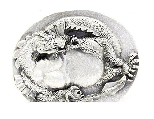 - Vintage Bergamot 1994 Pewter Dragon Belt Buckle H-250
