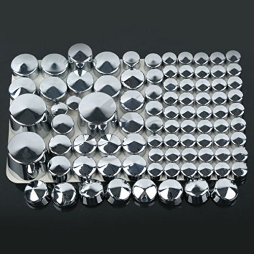 87 pcs Chrome ABS Bolt Toppers Caps For Harley Softail Twin Cam 1984-2006 04 - Circle Centre Hours
