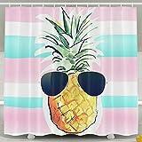BINGO FLAG Funny Fabric Shower Curtain Home Sweet Home Pineapple Waterproof Bathroom Decor With Hooks 60 X 72 Inch