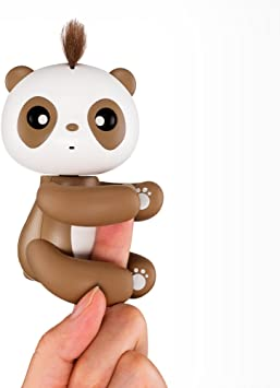 Amazon Com Electronic Stress Relief Toys Smart Robot Interactive Cute Cartoon Panda Sensor Kid Ling Pet Ball Toy Baby Gift Computers Accessories